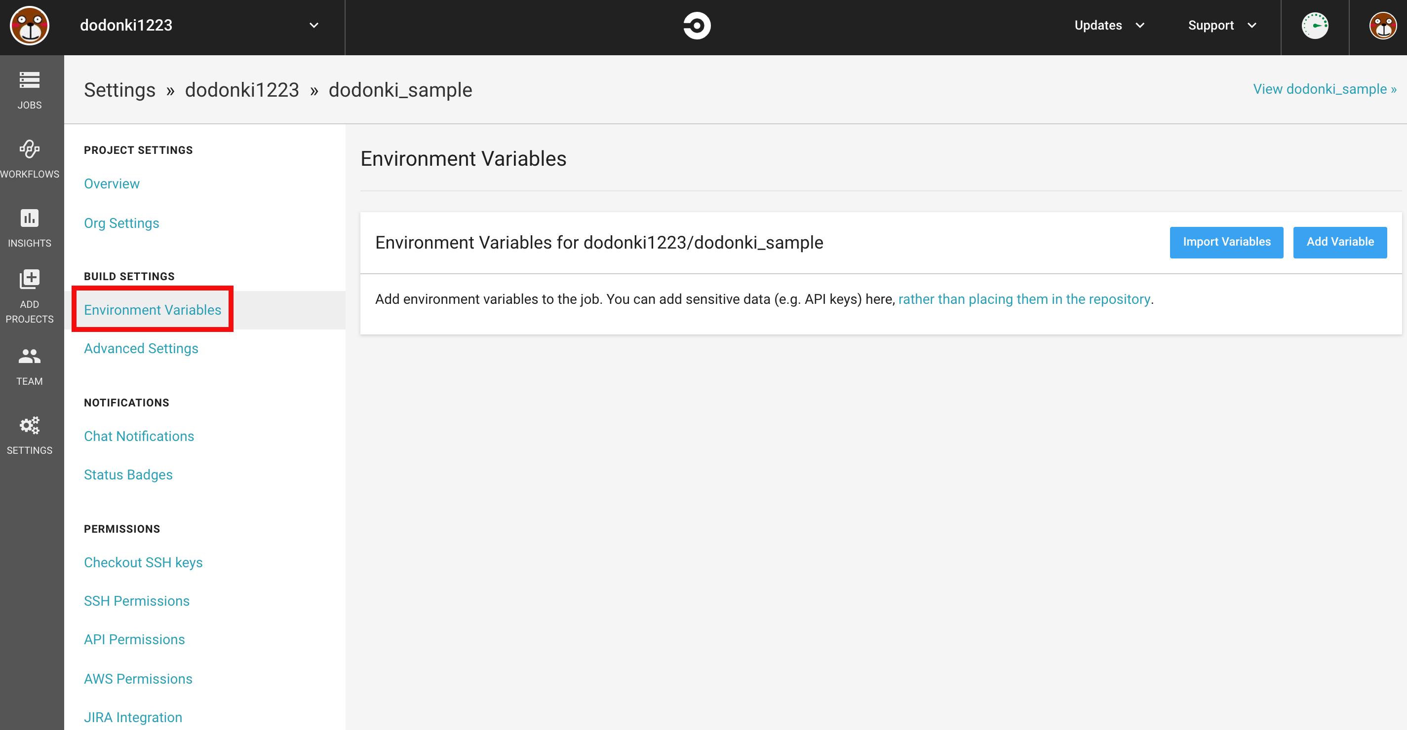 circleci_environment_setting